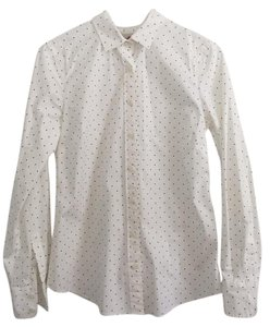 J.Crew Button Down Shirt Black and white polka dots