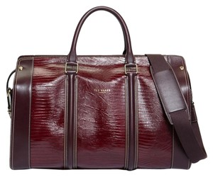 Ted Baker Luggage Hold All Oxblood Travel Bag