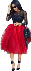 Boutique 9 Tulle Tulle Plus Size Skirt Red, Teal, Navy