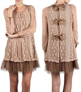 Modcloth Vintage Lace Bows Tulle Dress