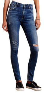 Citizens of Humanity High Rise Distressed Skinny Jeans-Distressed
