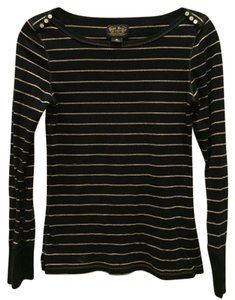 Polo Ralph Lauren Longsleeve Cotton Top navy and gold striped