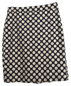 J.Crew Skirt Navy and white polka dots