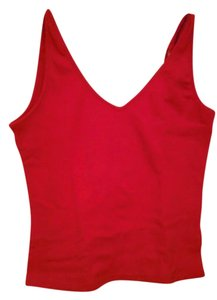 Energie Halter Sleeveless V-neck Tie Top Red