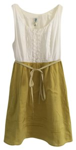 Anthropologie short dress Cream and olive on Tradesy
