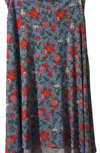 LuLaRoe Skirt Blue with roses