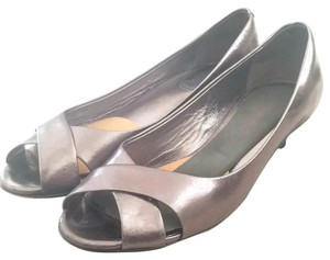 Cole Haan Anthracite metallic Wedges