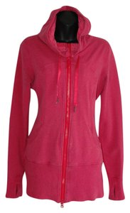 Lululemon long hoodie luon stretch pink double zip