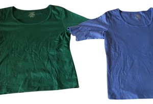 L.L.Bean T Shirt Blue & Green