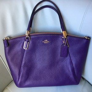 Coach Small Kelsey Leather Satchel in Violet