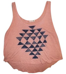 Sundry Comfortable Casual Top Peach and Blue