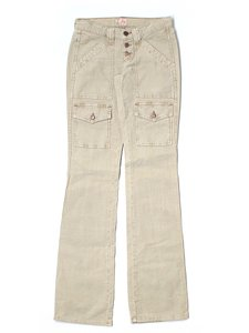 Joie Super Low-rise Corduroy Boot Cut Pants Beige