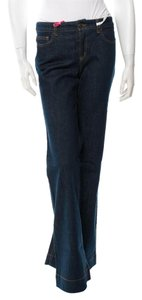 See by Chlo High Waist Flare Leg Jeans-Dark Rinse