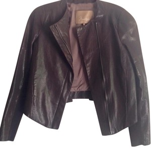 BCBGMAXAZRIA Black coffee Leather Jacket