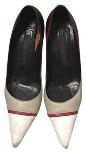 Narciso Rodriguez Black,red, grey, and white Pumps