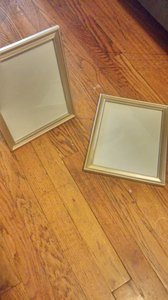 (12) 8x10 Metallic Champagne Picture Frames