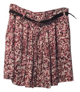 Mango Mini Skirt Pink floral