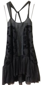 Free People Boho Crisscross Strap Velvet Dress