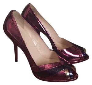 Prada Metallic Plum Purple Pumps