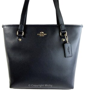 Coach Zip Top Tote in Midnight (Navy)