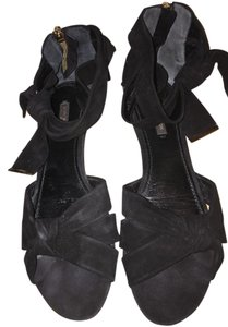 Louis Vuitton Black Black suede Sandals