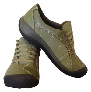 Keen Leather Rubber Sole Hiking Green (Loden) Athletic