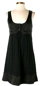 BCBGMAXAZRIA short dress Black Silk Textured on Tradesy