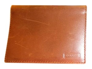 Coach 2 Leather Credit Business Card ID Holder Wallet