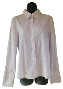 Express Button Down Shirt blue, white