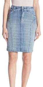 7 For All Mankind Skirt Light Blue Denim