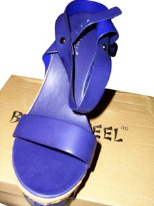 Beauty Heel Navy Blue Wedges