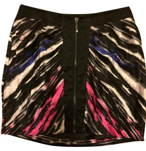 bebe Silk Mini Skirt Multi