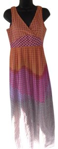 orange, red, pink Maxi Dress by Garnet Hill
