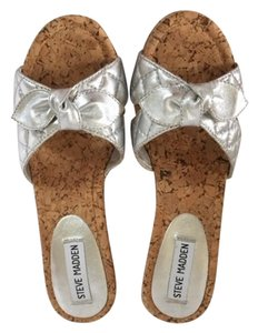 Steve Madden Wedge silver/cork Sandals