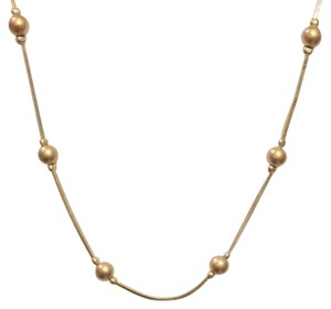 Avon Gold Tone Avon Beaded Strand Long Necklace