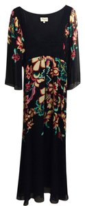 Black with Floral Maxi Dress by Temperley London