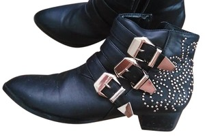 Forever 21 Gold Bootie black Boots