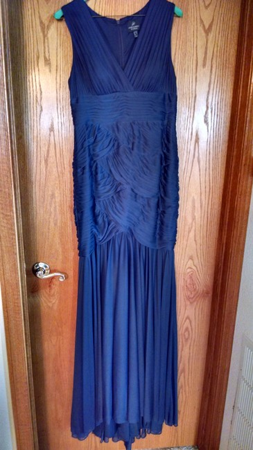 Item - Teal Matte Jersey Mermaid Gown Formal Bridesmaid/Mob Dress Size 8 (M)