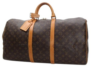 Louis Vuitton Keepall 55 Monogram Brown Travel Bag
