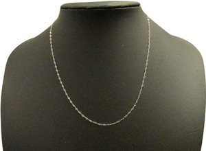 14K Solid White Gold Chain 16 Inches