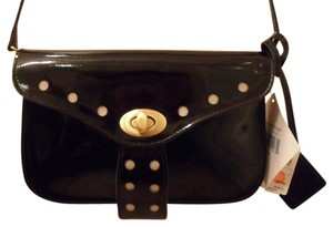 Badgley Mischka Patent Leather Crossbody Black Clutch