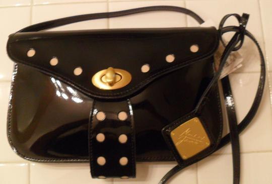 Badgley Mischka Patent Leather Crossbody Black Clutch Image 3