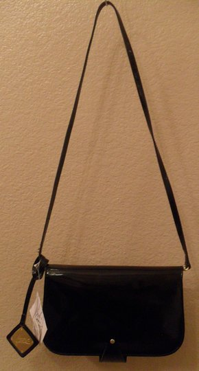 Badgley Mischka Patent Leather Crossbody Black Clutch Image 4