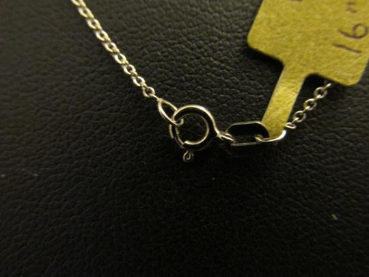 Other 14K Solid White Gold Oval Rolo Chain 16 Inches