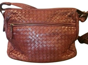 Bottega Veneta Woven Leather Italy Cross Body Bag