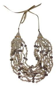 Express White bead and shell necklace, Express