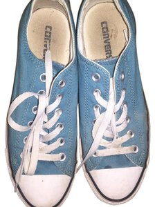 Converse Teal with floral print tongue Athletic