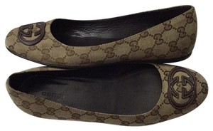 Gucci Khaki brown Flats