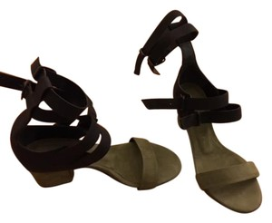 Freda Salvador Freda Gladiator Chunky Heel Army green and black Sandals
