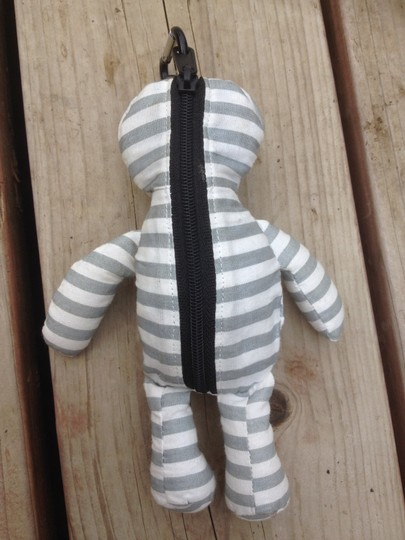 Other Keychain Bear Reusable Eco-friendly Tote in Striped Grey